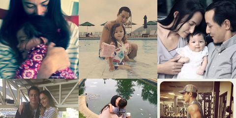 Arm, Human, Photograph, Mammal, Collage, Facial expression, Black hair, Beauty, Holiday, Love,