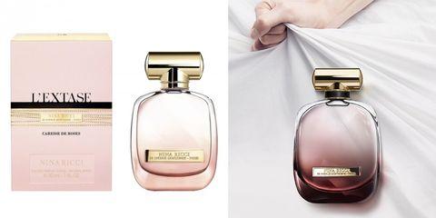 Perfume, Product, Glass bottle, Cosmetics, Brand, Bottle, Rectangle, Fashion accessory,