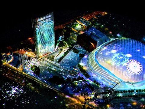 Night, City, Metropolitan area, Commercial building, Urban area, Landmark, Metropolis, Midnight, Cityscape, Urban design,