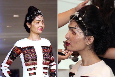 Ear, Nose, Mouth, Hairstyle, Hair accessory, Eyelash, Style, Black hair, Headgear, Fashion,