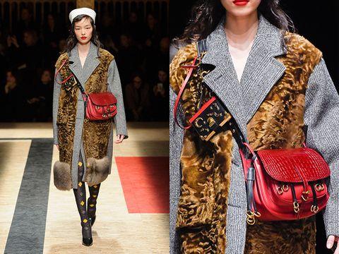Textile, Style, Street fashion, Bag, Winter, Fashion model, Fashion, Pattern, Shoulder bag, Fashion show,