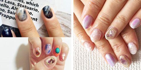 Blue, Finger, Skin, Nail, Nail care, Nail polish, Pink, Purple, Style, Manicure,