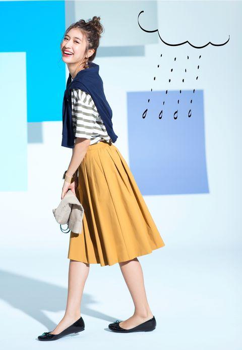 Clothing, Yellow, Fashion, Footwear, Design, Street fashion, Fashion design, Pattern, Pattern, Fashion model,