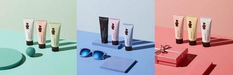 Product, Beauty, Eyewear, Design, Material property, Box, Brand, Glasses, Still life photography, Shelf,