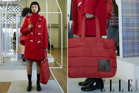 Red, Clothing, Coat, Outerwear, Overcoat, Fashion, Shoulder, Trench coat, Joint, Jacket,