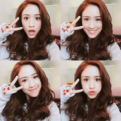 Hair, Lip, Face, Eyebrow, Facial expression, Hairstyle, Skin, Head, Beauty, Hair coloring,