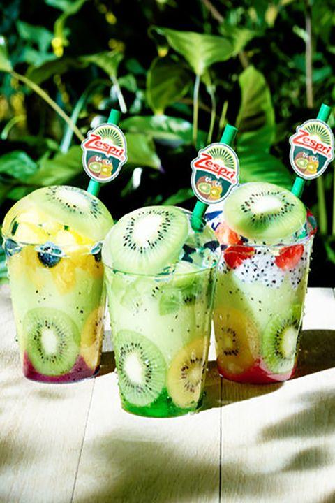 Drink, Non-alcoholic beverage, Food, Plant, Fizz, Soft drink, Cucumber, Fruit,