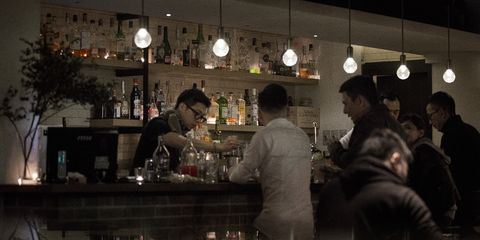 Barware, Drinking establishment, Customer, Restaurant, Tavern, Pub, Bar, Reflection, Houseplant, Alcohol,