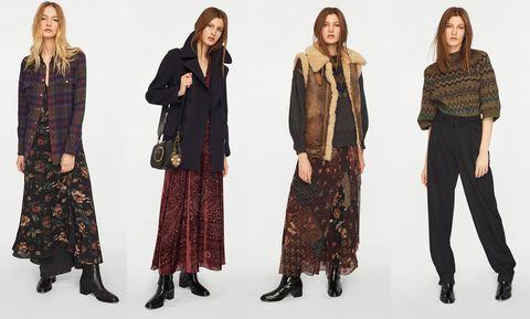 Clothing, Fashion, Outerwear, Fashion design, Footwear, Textile, Fashion model, Trousers, Pattern, Pattern,