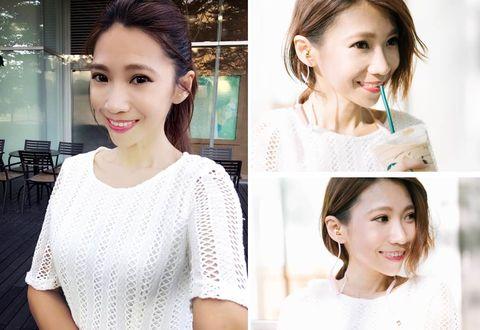 Ear, Lip, Smile, Hairstyle, Skin, Eye, Sleeve, Shoulder, Eyebrow, Photograph,