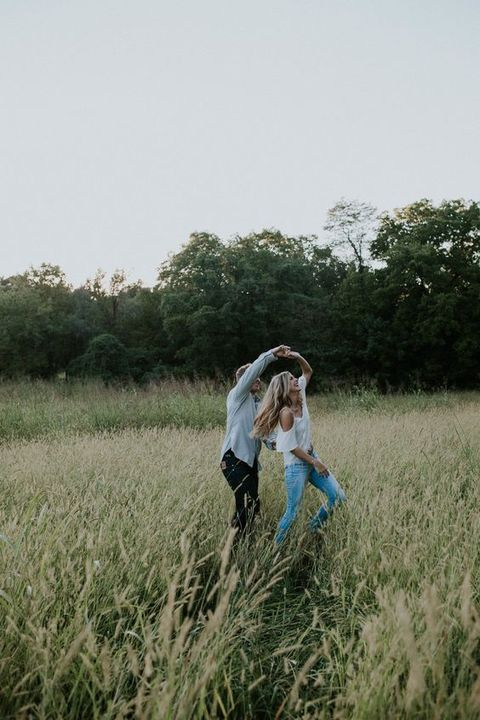 People in nature, Photograph, Grass, Grassland, Field, Grass family, Sky, Photography, Prairie, Happy,