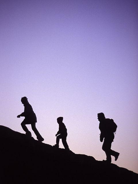 Standing, People in nature, Silhouette, Slope, Adventure, Walking, Mountaineer, Shadow, Hiking, Mountaineering,