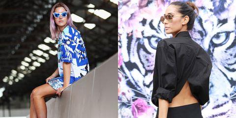 Clothing, Eyewear, Sleeve, Textile, Outerwear, Pattern, Fashion accessory, Street fashion, Style, Collar,