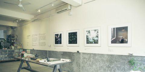 Flowerpot, Room, Interior design, Ceiling, Table, Wall, Light fixture, Interior design, Ceiling fan, Picture frame,