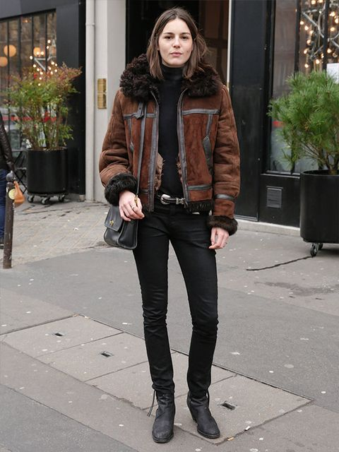 Clothing, Brown, Flowerpot, Textile, Outerwear, Jacket, Style, Street fashion, Leather, Fashion,