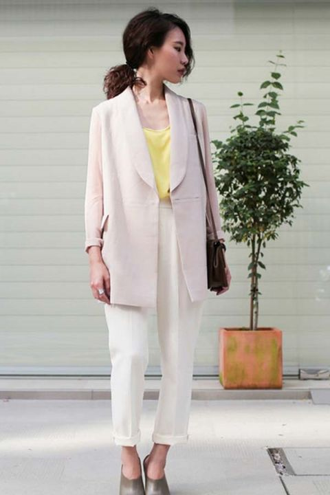 Clothing, Sleeve, Outerwear, Coat, Style, Collar, Blazer, Street fashion, Fashion, Fashion model,