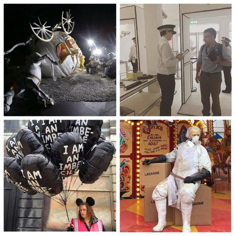 Human body, Photograph, Deer, Uniform, Sports gear, Photography, Snapshot, Reindeer, Collage, Antler,