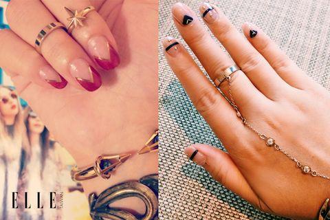 Finger, Blue, Skin, Nail, Nail care, Fashion accessory, Style, Nail polish, Amber, Interaction,