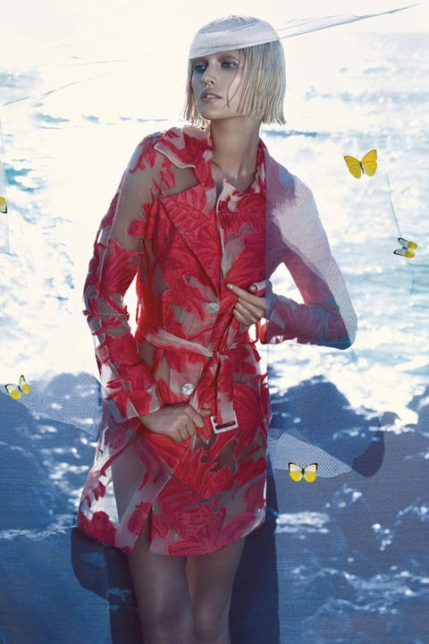 Human body, Dress, Bangs, Wig, Red hair, Hair coloring, Day dress, Cg artwork, Painting, One-piece garment,