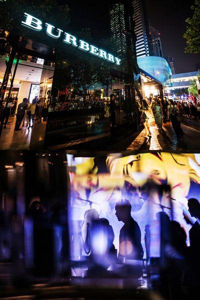 Night, Midnight, Metropolis, Reflection, Neon,