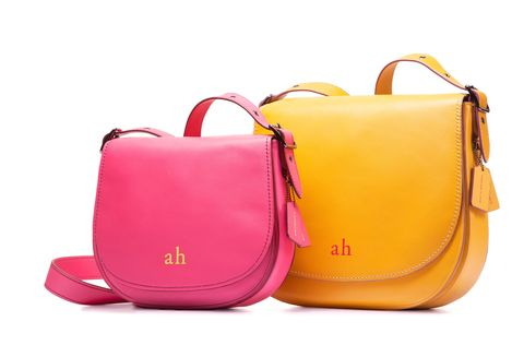 Product, Bag, Red, Orange, Luggage and bags, Shoulder bag, Purple, Magenta, Leather, Material property,