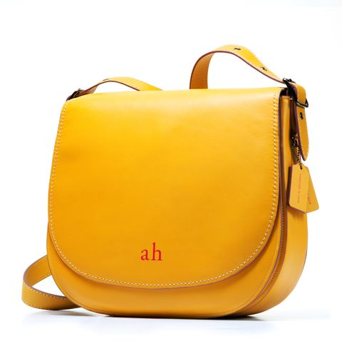 Product, Yellow, Bag, Orange, Style, Amber, Luggage and bags, Shoulder bag, Beauty, Leather,