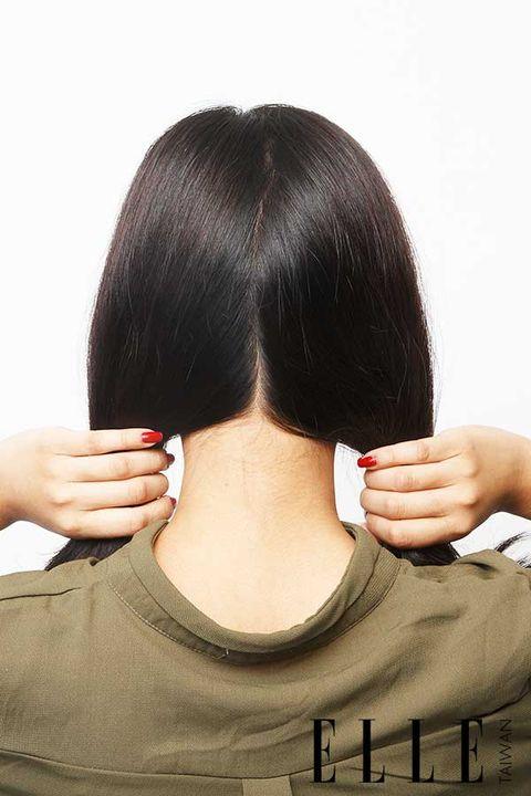 Finger, Hairstyle, Skin, Style, Beauty, Neck, Black hair, Nail, Long hair, Back,