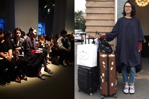 Street fashion, Luggage and bags, Baggage, Rolling, Suitcase, Hand luggage,
