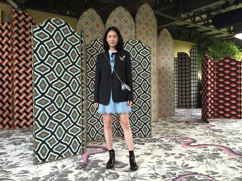 Clothing, Textile, Outerwear, Pattern, Coat, Style, Street fashion, Jacket, Fashion, Bag,