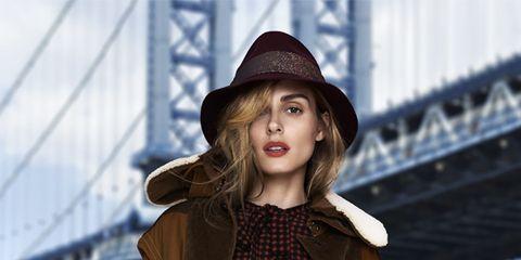 Clothing, Brown, Hat, Sleeve, Coat, Shoulder, Jacket, Textile, Outerwear, Bag,