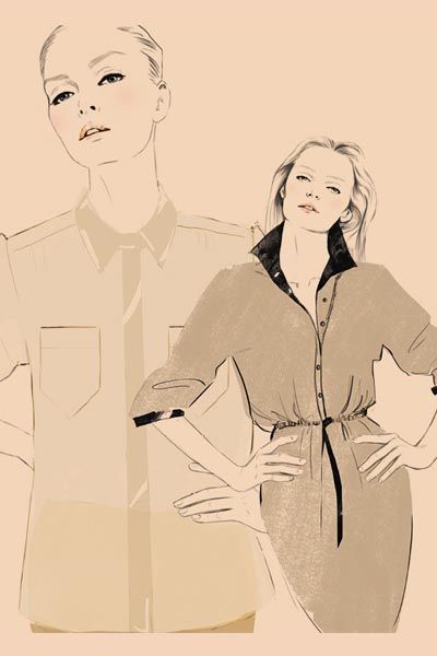 Hairstyle, Sleeve, Collar, Standing, Style, Jaw, Art, Line art, Fashion illustration, Artwork,