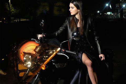 Motorcycle, Automotive design, Automotive lighting, Headlamp, Fender, Fuel tank, Black hair, Motorcycle accessories, Beauty, Midnight,