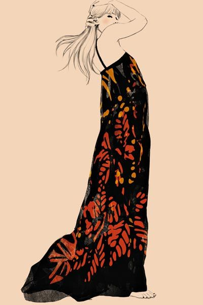 Orange, Art, Fashion illustration, Illustration, Painting, Drawing, Artwork, Line art, Costume design, Modern art,