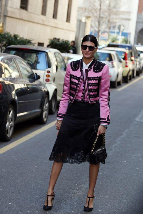 Clothing, Eyewear, Wheel, Vision care, Land vehicle, Sunglasses, Road, Street, Outerwear, Fashion accessory,