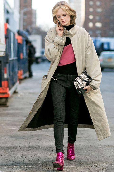 Clothing, Footwear, Textile, Outerwear, Street fashion, Style, Street, Bag, Fashion accessory, Winter,