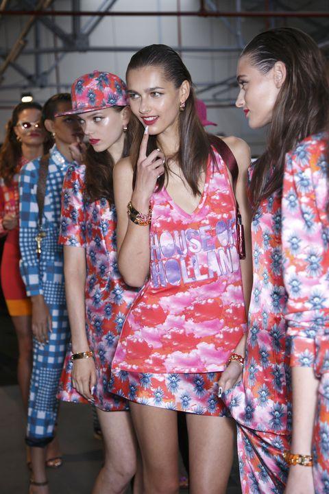 Face, Style, Dress, Fashion accessory, Pattern, One-piece garment, Street fashion, Fashion, Day dress, Thigh,