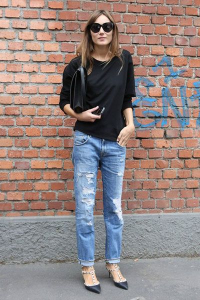 Clothing, Eyewear, Footwear, Vision care, Blue, Brick, Denim, Trousers, Jeans, Shoulder,