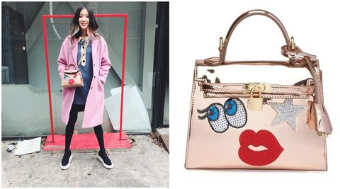 Product, Bag, Textile, Outerwear, Coat, Style, Luggage and bags, Pattern, Fashion, Street fashion,