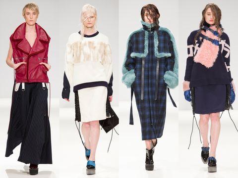 Clothing, Sleeve, Textile, Standing, Pattern, Style, Collar, Fashion, Waist, Street fashion,