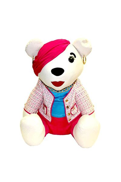 Toy, Stuffed toy, Plush, Baby toys, Carmine, Costume accessory, Fictional character, Baby & toddler clothing, Baby Products, Costume hat,