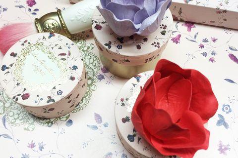 Serveware, Dishware, Porcelain, Petal, Ceramic, Lavender, Purple, Linens, Tablecloth, Blue and white porcelain,