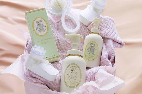 Product, Lavender, Pink, Purple, Peach, Bottle, Household supply, Label, Bridal shower, Plastic bottle,