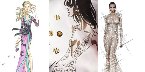 Hairstyle, Style, Fashion illustration, Formal wear, Art, Fashion, Costume design, Fashion design, Illustration, Drawing,