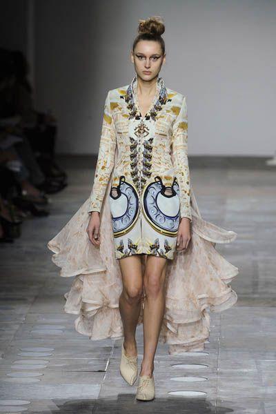 Clothing, Fashion show, Shoulder, Runway, Outerwear, Fashion model, Style, Dress, Fashion, Model,