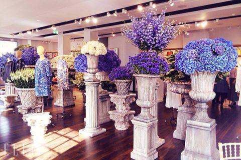 Interior design, Purple, Flowerpot, Lavender, Interior design, Majorelle blue, Decoration, Violet, Vase, Flower Arranging,