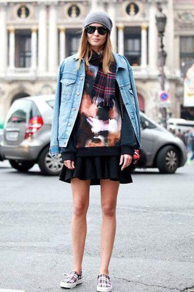 Clothing, Eyewear, Road, Sleeve, Street, Coat, Textile, Bag, Human leg, Sunglasses,