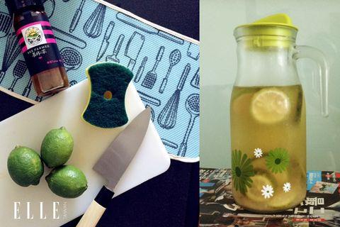 Liquid, Ingredient, Bottle, Fruit, Drink, Produce, Drinkware, Lemon, Citrus, Natural foods,