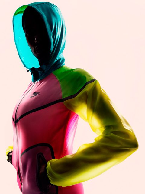 Sleeve, Shoulder, Joint, Standing, Fictional character, Magenta, Carmine, Waist, Latex clothing, Costume,