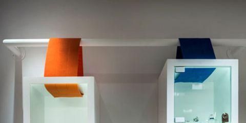 Shelving, Orange, Teal, Aqua, Turquoise, Shelf, Still life photography, Collection, Creative arts,