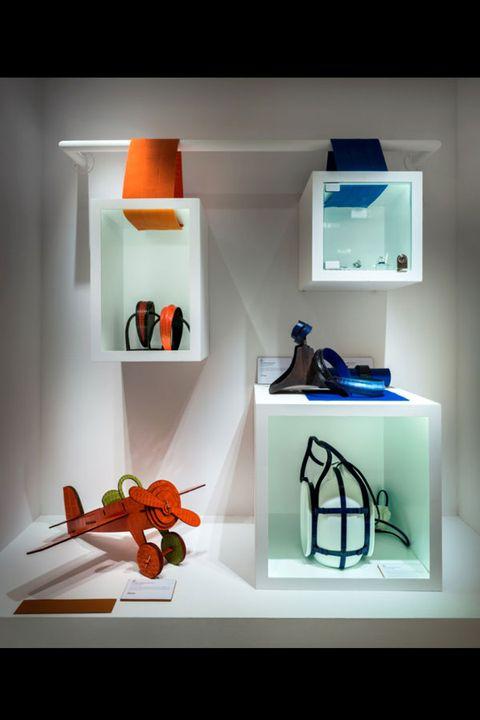 Shelving, Orange, Turquoise, Teal, Aqua, Still life photography, Display device, Shelf, Coquelicot, Creative arts,